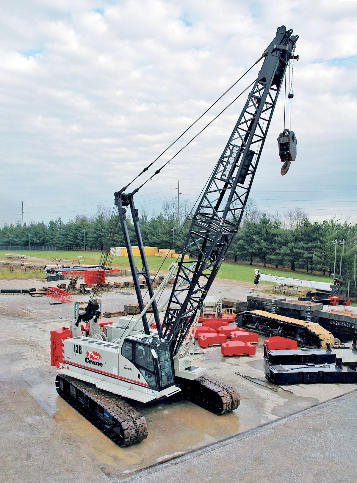 Link Belt 138 rough terrain crane